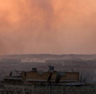 Bombardeos en la provincia siria de Alepo (archivo)