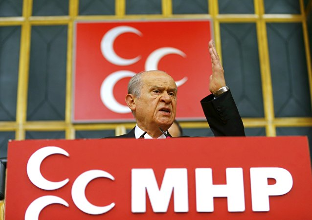 Devlet Bahceli, líder del Partido de Acción Nacionalista turco