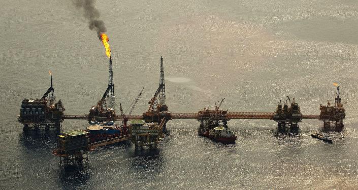 El complejo petrolero Cantarell de la compañía Pemex