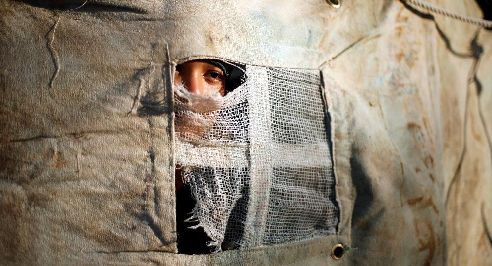 Un palestino en la Franja de Gaza (archivo)