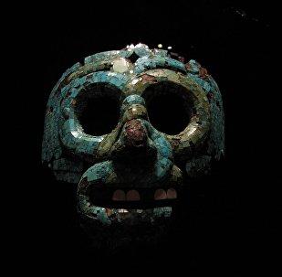 La máscara funeraria azteca del Museo Británico