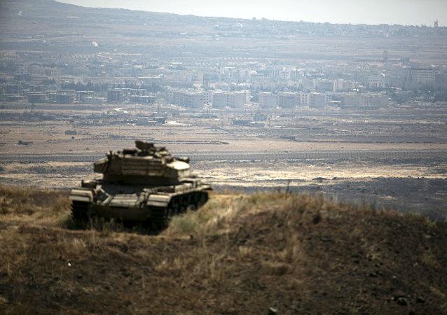 El tanque israelí en la frontera entre Israel y Siria (archivo)