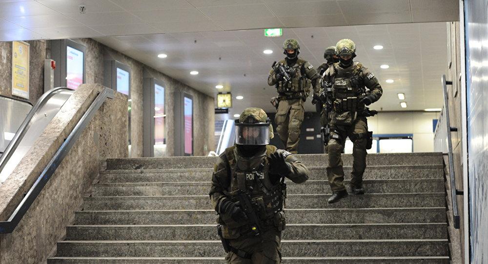 La policía en la operación en Munich tras los tiroteos en la ciudad alemana