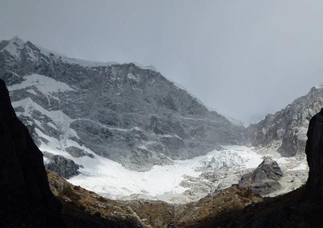 Montaña de Huascarán en Perú