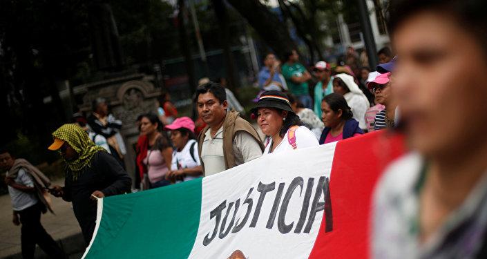 Protesta por la justicia para los 43 estudiantes desaparecidos