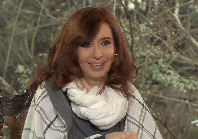 Rueda de prensa internacional de Cristina Kirchner en Calafate