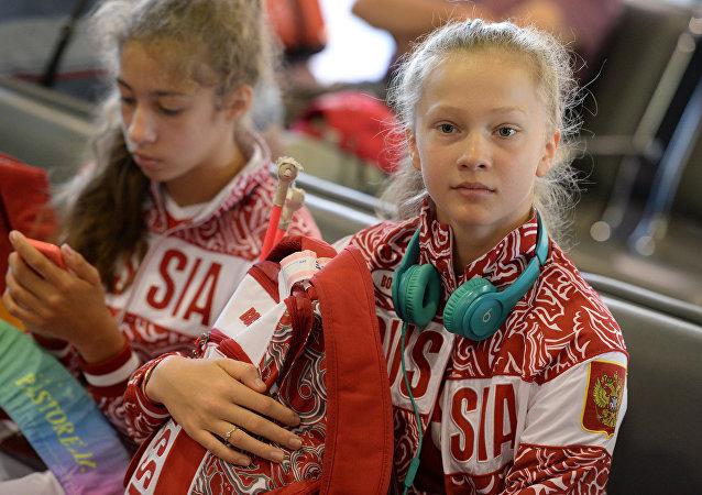 Atleta rusa de gimnasia artistica Daria Dúbova