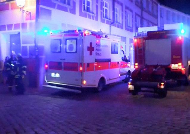 Emergencia en Ansbach, Alemania