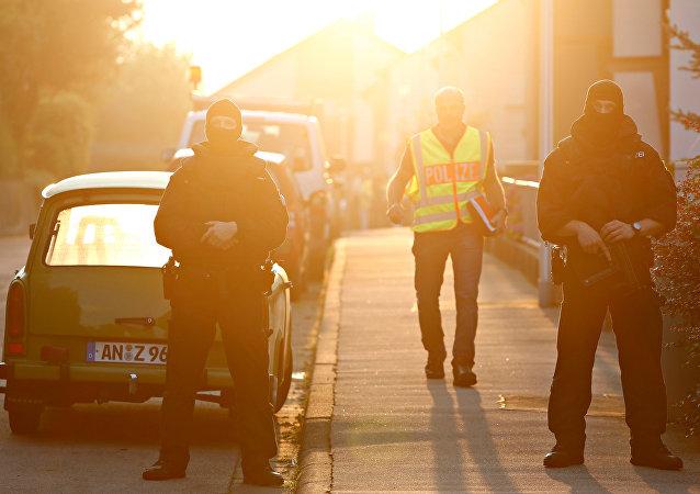 Policías en Ansbach