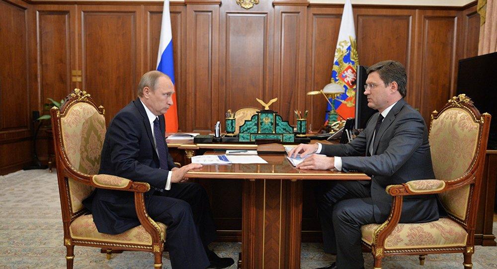 El presidente ruso, Vladímir Putin,  y el ministro de Energía, Alexandr Nóvak