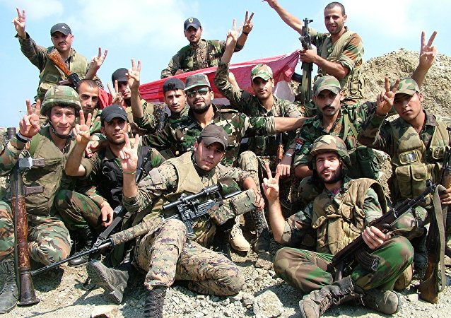 Ejército sirio en el norte de Alepo