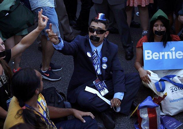 Los partidarios de Sanders