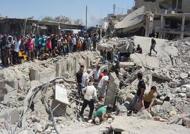 Situación tras el atentado en la ciudad siria de Qamishli