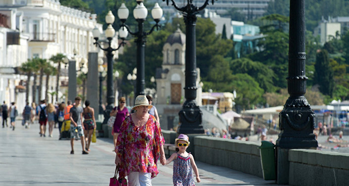 El malecón de Yalta, Crimea