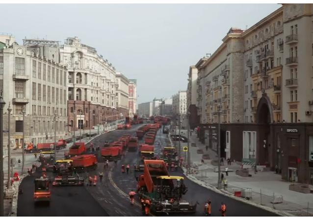 Proyecto mi calle: reconstruyen la principal avenida de Moscú