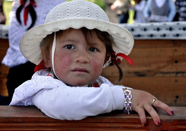 Niña ecuatoriana