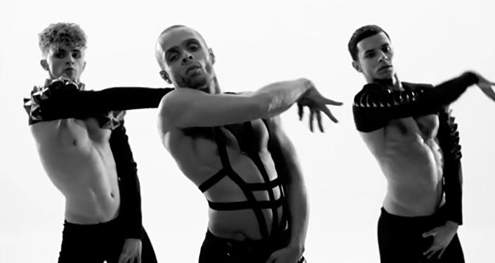 Cuadro del vídeo del grupo Kazaky