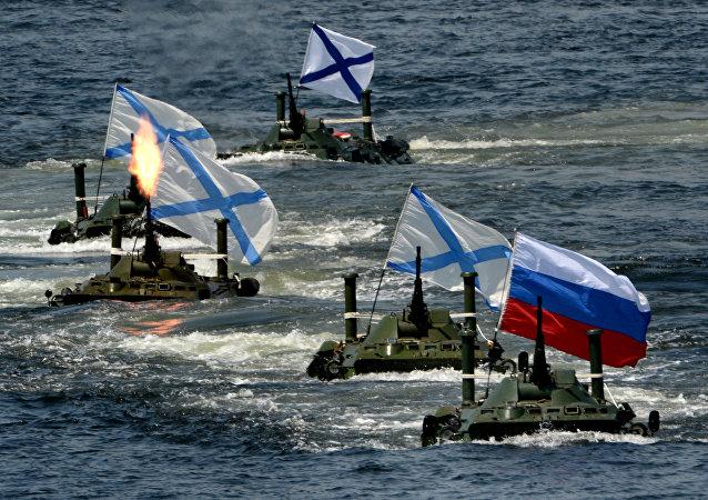 Las celebraciones del Día de la Armada rusa (archivo)