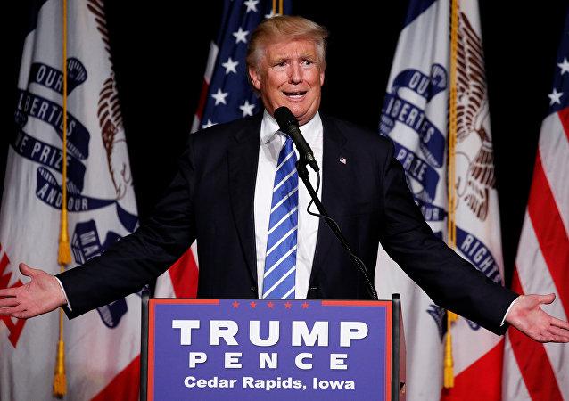 El candidato republicano a la presidencia de EEUU, Donald Trump