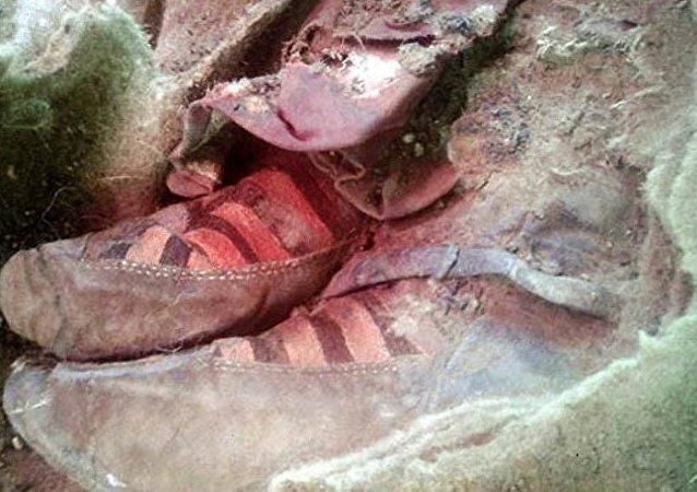 Calzado de momia de Altai