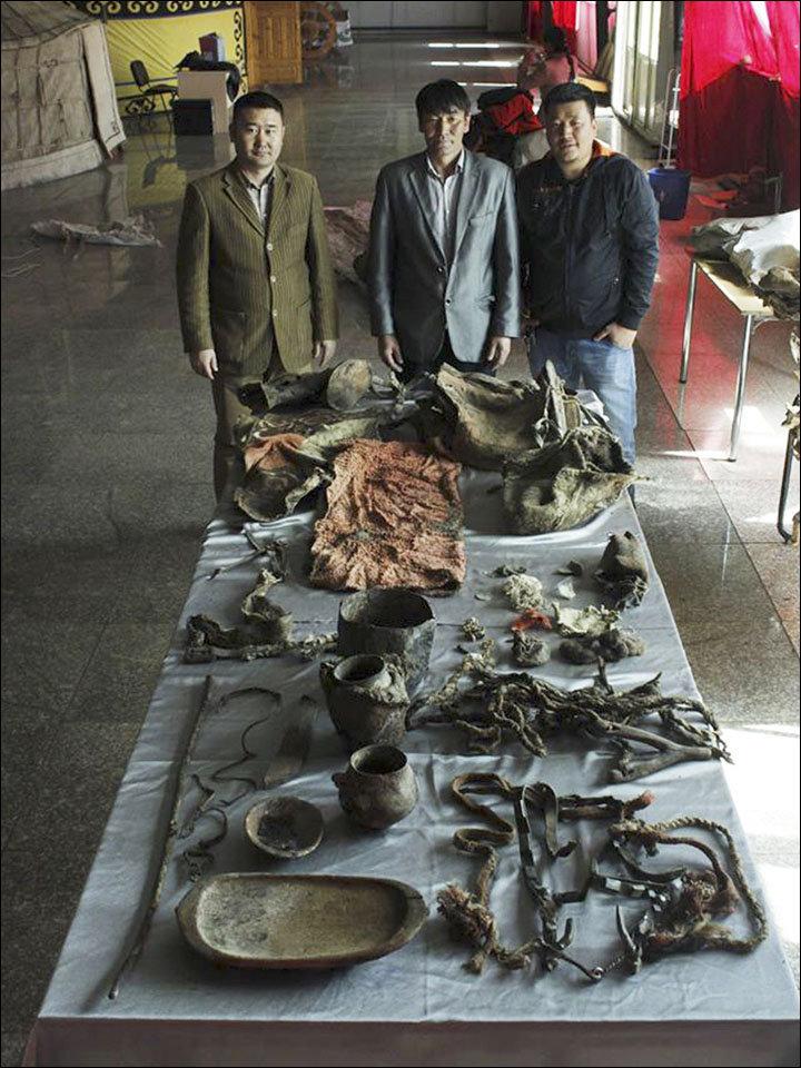 Museo de Khovd muestra los utensilios de la momia de Altái