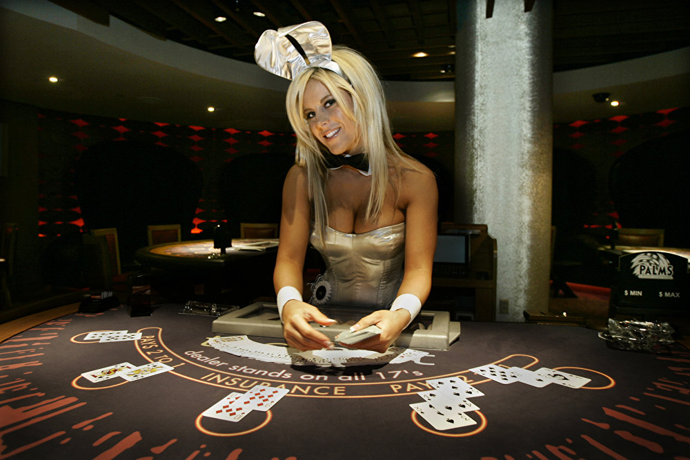 Lindsey Roeper of Los Angeles poses for pictures in a vintage Playboy Bunny uniform at the Palms Hotel & Casino in Las Vegas on Wednesday, Sept. 27, 2006