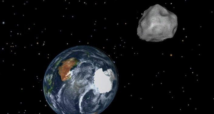 Simulación de un asteroide rumbo a la Tierra