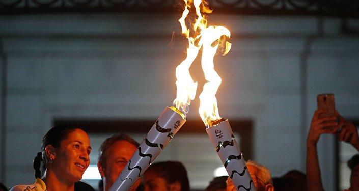 Antorcha olímpica (archivo)