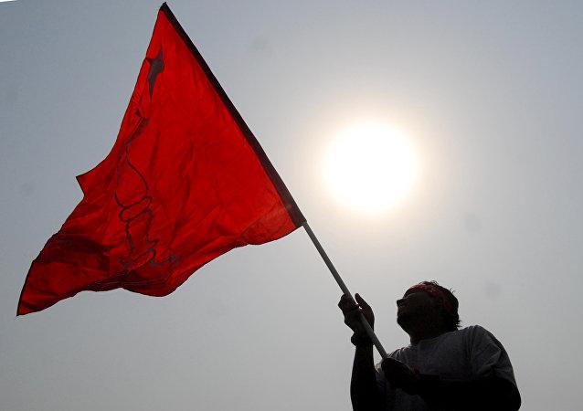 Partidiario maoísta en Nepal (archivo)