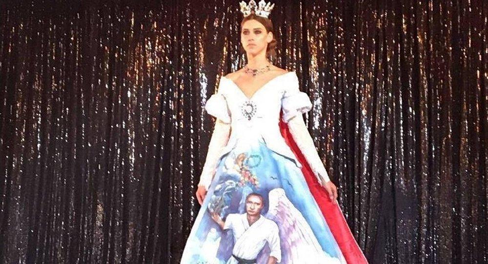 El vestido elaborado por Mona Al Mansouri
