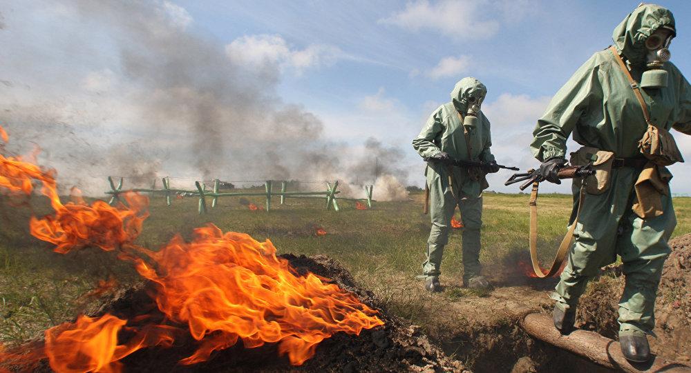 Simulacro de ataques con armas químicas (archivo)