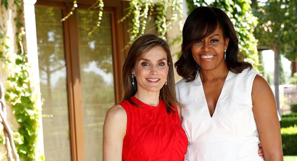 Letizia, Reina de España, y Michelle Obama, primera dama estadounidense