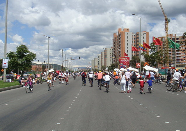 Ciclistas en Bogotá (archivo)