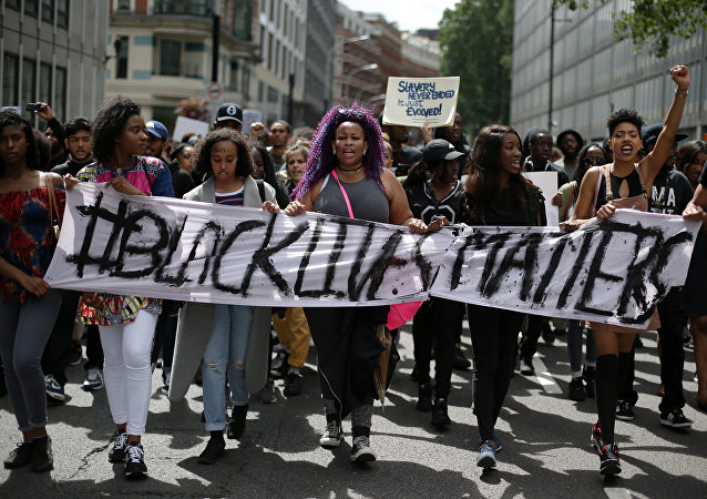 El colectivo Black Lives Matter monta protestas en Inglaterra (archivo)