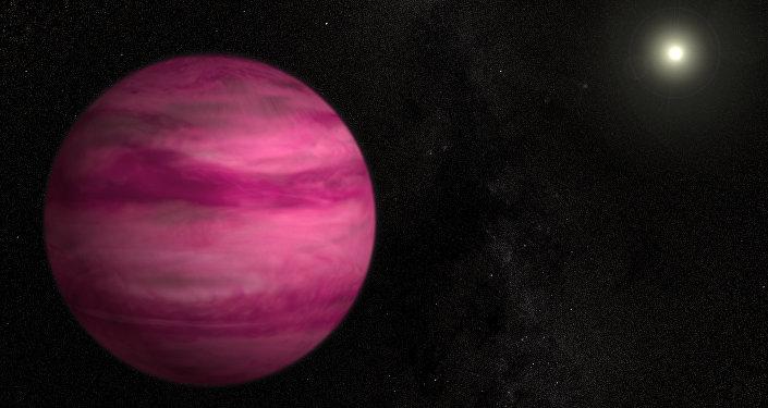 Exoplaneta GJ 504b que gira alrededor de la estrella similar al Sol
