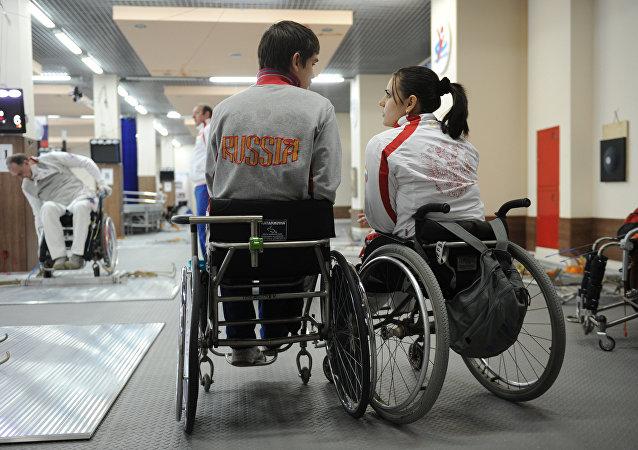 Los atletas paralímpicos rusos (archivo)
