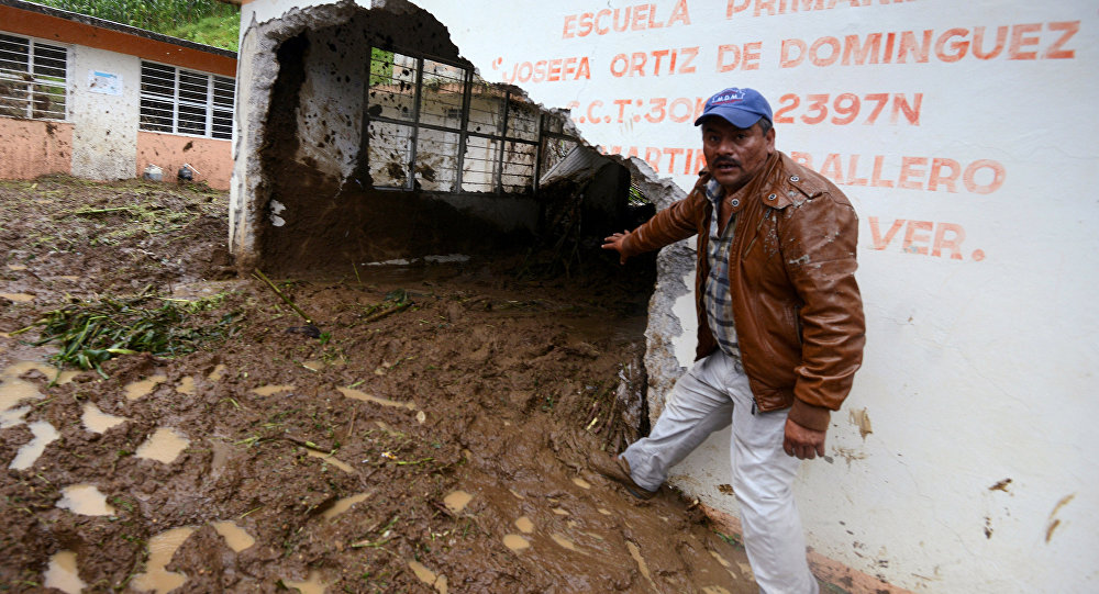 Efectos de las tormenta tropical 'Earl' en Veracruz