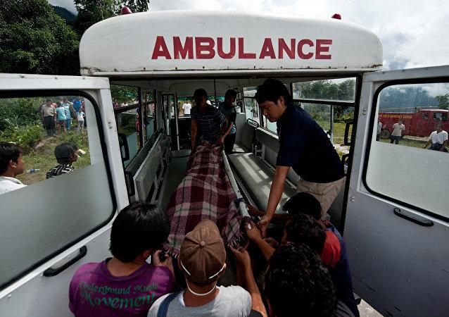 Una ambulancia de Nepal