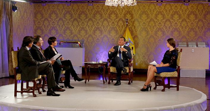 La entrevista con el presidente de Ecuador, Rafael Correa