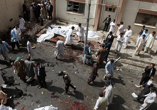 Ciudad de Quetta en Pakistán tras el atentado