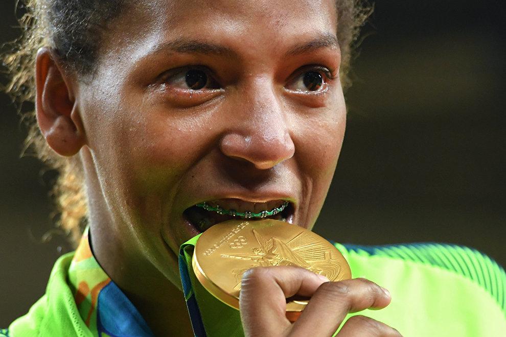Rafaela Silva y su medalla de oro