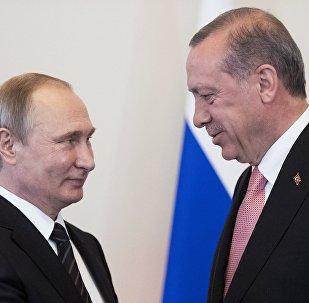 La reúnion entre los presidentes Putin y Erdogan en San Petersburgo (archivo)