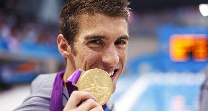 Michael Phelps, nadador estadounidense, durante los JJOO de 2012 en Londres