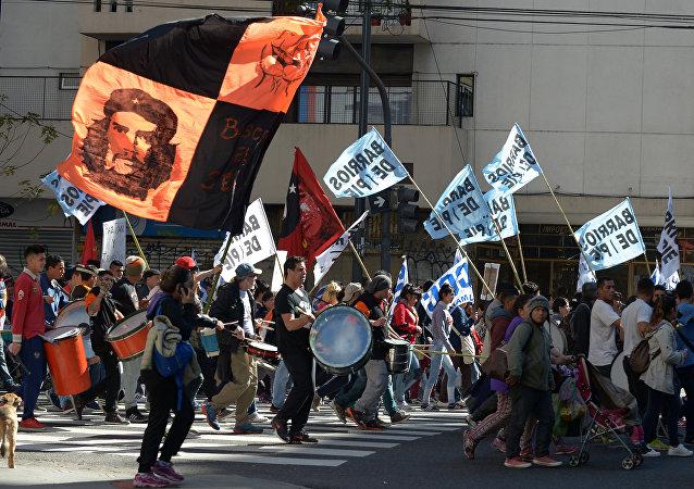 Una marcha sindicalista en Buenos Aires (archivo)
