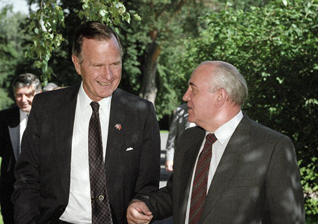 George Bush y Mijaíl Gorbachov (1991)