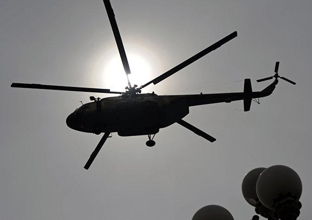Un helicóptero Mi-17 (imagen referencial)