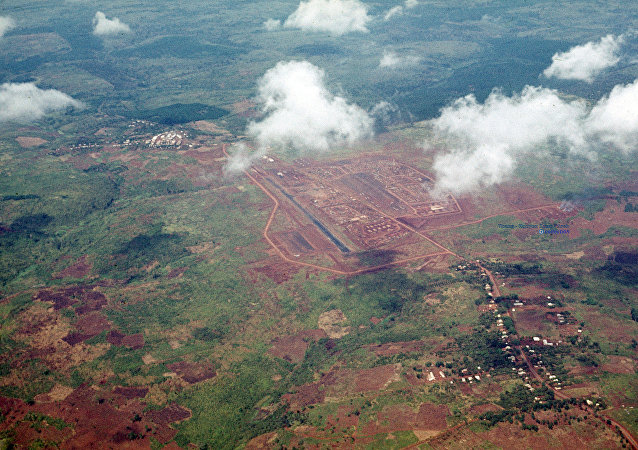Un aeródromo de Vietnam