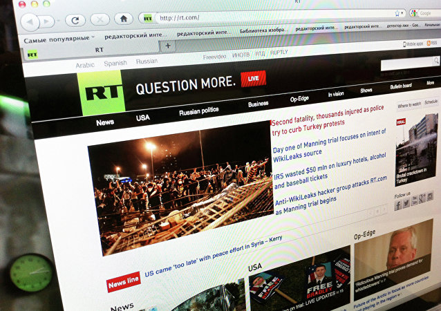 Сайт телеканала Russia Today (archivo)