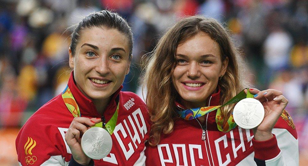 Daria Shmeleva y Anastasiia Voinova, atletas rusas