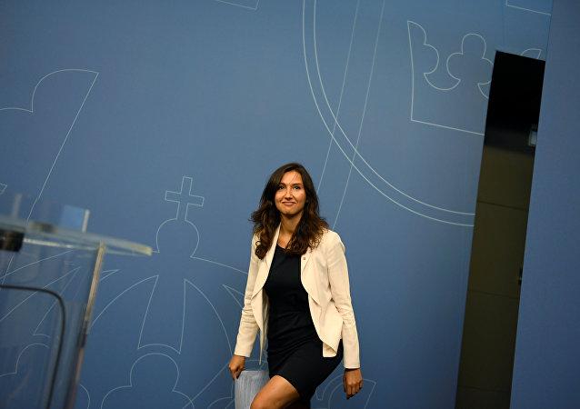 Aida Hadzialic, ministra de Educación Secundaria y para Adultos de Suecia